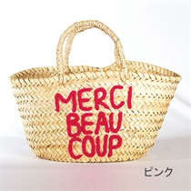 【Fatima Morocco×Cosme Kitchen】MERCIカゴバッグ<全2色>(ピンク)