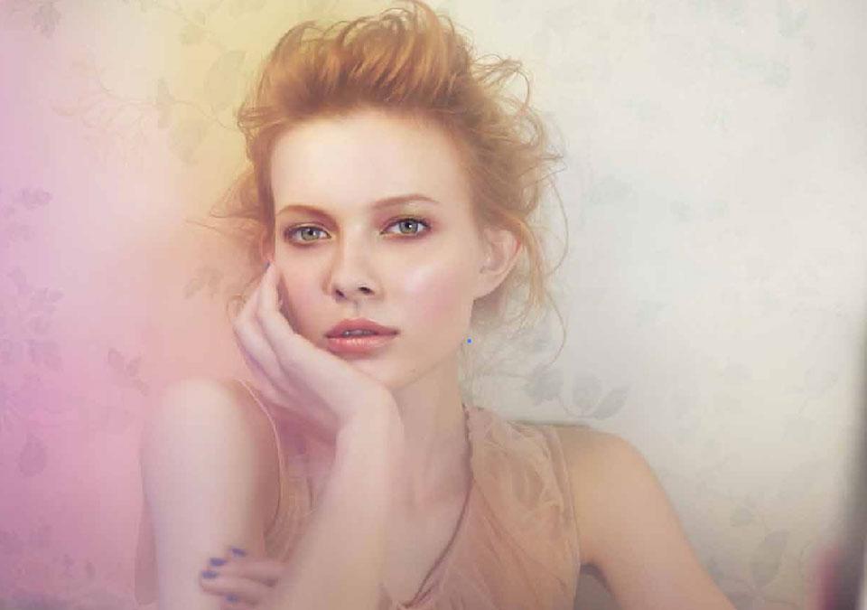 肌が美しい女性